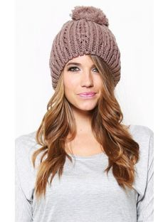 Large beanies with Pom poms