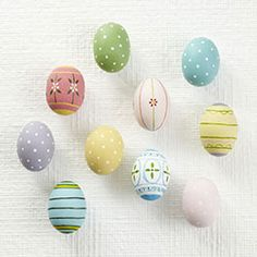 wooden handmade eggs from wisteria - $28