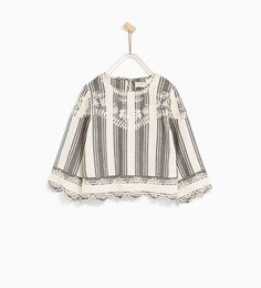 ZARA - KIDS - STRIPED AND EMBROIDERED BLOUSE