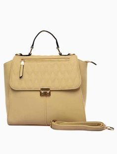 Womens Quilted Faux Leather Designer Style Shoulder Bag