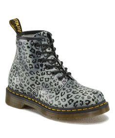 Loving this Charcoal Leopard Leather Boot on #zulily! #zulilyfinds