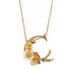 Les Néréides Alphabet Fleuri Necklace ($125) ❤ liked on Polyvore featuring jewelry, necklaces, jewelry necklaces, multicolor, tri color necklace, multi colored jewelry, initial necklace, initial jewelry and letter jewelry