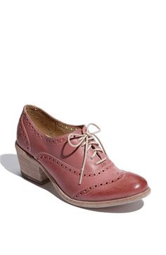 i like this colour, i want to dye part of my hair this colour    Frye 'Maggie' Perforated Wingtip Oxford #nordstrom