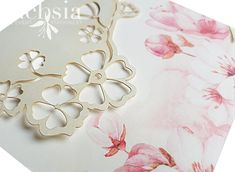 Fuchsia Wedding Stationery in Durban provide traditional, modern, lasercut or handmade couture wedding invitations. Our Invitation Cards are design-led. Couture Wedding Invitations, Wedding Invitation Design, Wedding Stationery, Stationery Design, Cherry Blossom, Blush Pink, Our Wedding, Decorative Plates, Day