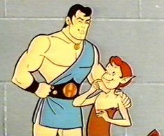 The Mighty Hercules (original run 1963-1966) featured the legendary hero, who dwells on Mount Olympus. When villains threaten the people of ancient Greece Hercules comes to the rescue to  whoever may be in trouble. When in serious danger, Hercules puts on his magic ring from which he gets his superpowers to battle his nemesis Daedalus, an evil wizard who is the chief villain. Hercules' friends and allies are his main sidekick, Newton, the helpful boy centaur and Helena, Hercules' girlfriend.