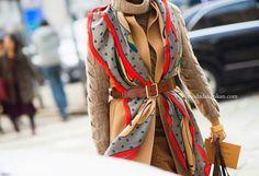 Yeni Fular Bağlama Modası 2014-2015