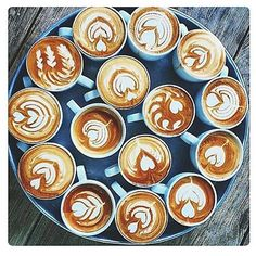 Good Morning. Would anyone like a Mug of Coffee? They look to good to drink. Photo Credit: Pinterest. #Instagram #coffee #art #morning #cup #awake #igcoffee #coffeeart #hearts #flowers #coffeetime #coffeegram #latte #latteart #instagood #instadaily