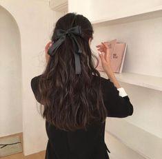 Pretty Hairstyles, Easy Hairstyles, Hair Inspo, Hair Inspiration, Aesthetic Hair, Dream Hair, Stylish Hair, Ulzzang Girl, Hair Bows
