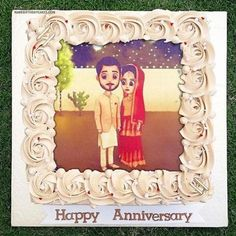 Write name on anniversary cake with photo of your life partner or friends. Online anniversary photo cake editor will make your anniversary images more romantic. Happy Birthday Cake Writing, Big Birthday Cake, Birthday Wishes With Name, Friends Birthday Cake, Butterfly Birthday Cakes, Happy Birthday Cake Pictures, Birthday Cake With Photo, Happy Birthday Gifts, 1st Wedding Anniversary Wishes
