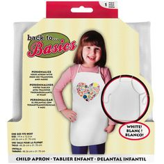 <div>Create an apron for your little sous chef. Personalize and decorate it with iron-ons, rhine...