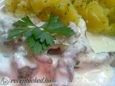Érdekel a receptje? Kattints a képre! Wok, Mashed Potatoes, Meat, Chicken, Ethnic Recipes, Whipped Potatoes, Smash Potatoes, Cubs