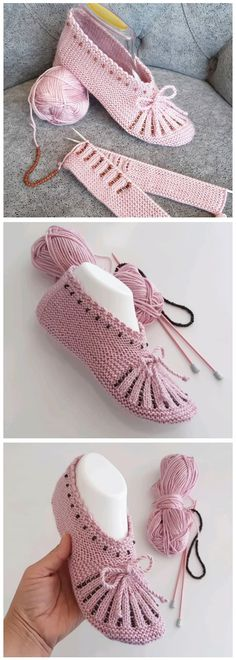 Free Slippers Tutorial – Design Peak You are in the right place about tricot et crochet Here we offer you the most beautiful pictures about. Knitting Blogs, Knitting For Beginners, Knitting Socks, Knitting Patterns, Crochet Patterns, Easy Patterns, Free Knitting, Crochet Ideas, Knitting Tutorials