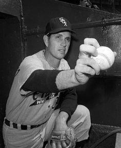Hoyt Wilhelm, Chigago White Sox, at Yankee Stadium, knuckleball pitcher.
