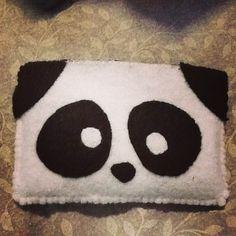 Diy felt phone case panda