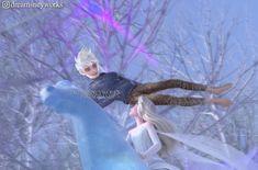 Jelsa - Elsa and Jack Frost - Frozen edit by Frozen And Tangled, Disney Princess Frozen, Elsa Frozen, Princess Luna, Dark Jack Frost, Jack Frost And Elsa, Jake Frost, Disney Fan Art, Disney Style