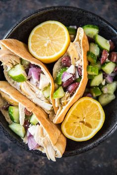 Slow Cooker Greek Chicken Pita Wraps