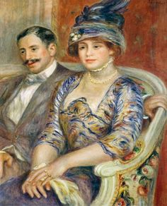 Renoir - Monsieur and Madame Bernheim | … The Bernheim family were art dealers who actively supported the impressionist painters.