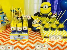 Despicable Me birthday party candy! See more party planning ideas at CatchMyParty.com!