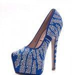 JACOBIES FLIRT 11 - $29.99. Unique blue pump.  #pump #pumpsandheels #highheels #stilleto #beaded #blue #pretty #fashion #prom2015 #promoutfitters