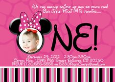 Great Photo Birthday Invitations minnie mouse Style In case you are preparing to. Great Photo Birthday Invitations minnie mouse Style In case you are preparing to rejoice any specia 1st Birthday Invitation Wording, Minnie Mouse Birthday Invitations, Minnie Mouse First Birthday, Personalized Birthday Invitations, Printable Birthday Invitations, Disney Birthday, Baby Birthday, Picture Invitations, Invites