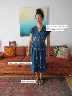 Jen Garrido---I love everything about this: her clothes, her hair, her furniture and decor...everything.