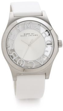 Marc by marc jacobs Henry Skeleton Leather Watch on shopstyle.com