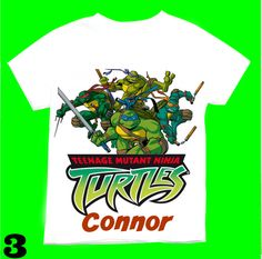 Leonardo the Ninja turtle Birthday Boy T-shirt Personalized12,18,2T,3T,4T,5T,6T Personalization is included at no additional cost. by FantasyKidsDesigns on Etsy https://www.etsy.com/listing/225492125/leonardo-the-ninja-turtle-birthday-boy-t