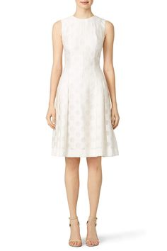 Rent White Spot Dot Dress by Carmen Marc Valvo for $70 only at Rent the Runway.