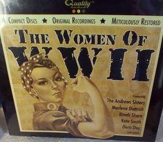 Women Of World War II Set 4 Compact Discs Restored New Sealed Album Wartime Era