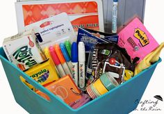 College student gift basket - great idea!!! Fun to give a BTS gift basket to any returning student!