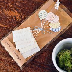 風船メッセージカード Balloon messenger by 紙のかんづめ 文房具・ステーショナリー カード・レター・ラッピング