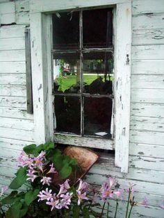 Vintage garage windows