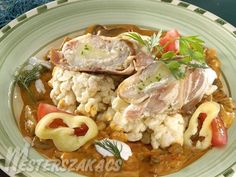 Nádudvari harcsafilé recept Fish Dishes, Fish Recipes, Yummy Food, Meals, Chicken, Per Diem, Delicious Food, Meal, Food