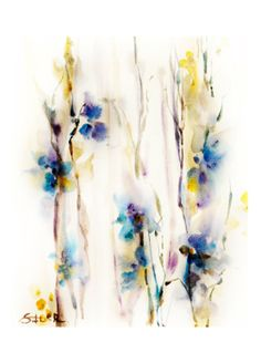 Original Watercolor Painting Art Print. Abstract by SophieRR, $10.00