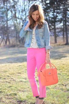 //coral + pink //