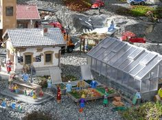 If you are a fan of garden railroads you have to visit this website and see all photos. It's amazing, the railroad is unbelieveably detailed.