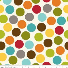 Riley Blake Peak Hour Dots White Flannel Fabric 1 yard by Ahmelie, $9.00