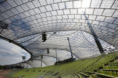 Roofing for main sports facilities in the Munich Olympic Park for the 1972 Summer Olympics, 1968–1972, Munich, Germany . Image © Atelier Frei Otto Warmbronn