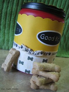 DIY dog or pet treat container (from coffee can or container)...