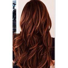 Red auburn hair with caramel highlights | Beauty | Pinterest ❤ liked on Polyvore featuring beauty products, haircare, hair and red hair care: