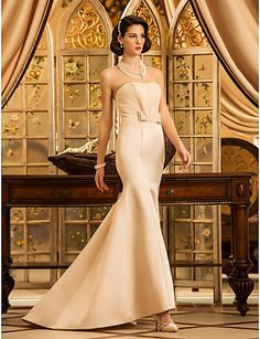 $109.99 -  Trumpet / Mermaid Wedding Dress - Classic & Timeless Elegant & Luxurious Simply Sublime Wedding Dress in ColorSweep /q,Shop for cheap Wedding Dresses online? Buy at Chinathebox.com on sale today!