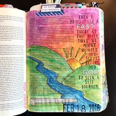 Bible journaling, Ezra 8:21 — Arden Ratcliff-Mann Art Journaling, Bible Study Journal, Book Journal, Journals, Scripture Art, Bible Art, Bible Verses, Bible Illustrations, Illustrated Faith
