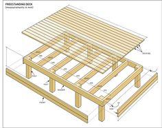 Freestanding deck build diagram instructions