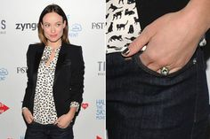 Olivia Wildes Engagement Ring Features An Emerald Halo (PHOTO)