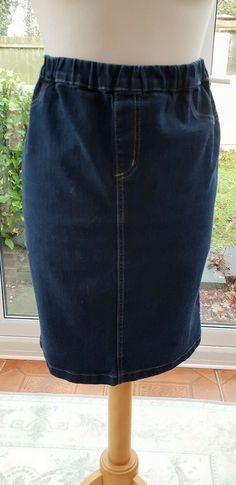 243cb74152 Ladies Womens Dark Denim Pencil Skirt Size 16 #fashion #clothing #shoes  #accessories