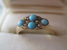 #rubylane.com             #ring                     #Victorian #Persian #Turquoise #Pearl #Ring         Victorian 12K YG Persian Turquoise Pearl Ring                                 http://www.seapai.com/product.aspx?PID=1302616
