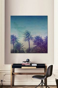 Palm Paradise by Leah Flores Canvas Wall Art Picture Table, Canvas Wall Art, Canvas Prints, My Dream Home, Dream Life, Painting Inspiration, Watercolor Art, Art Projects, Room Decor