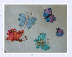 instructions for Silk Ribbon embroidery butterflies and dragonflies