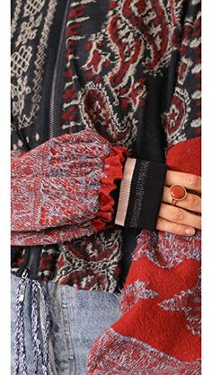 Free People Paisley Pattern Bomber  Search for more with our Best Sales Finder!