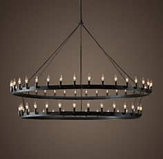 Metropolitan Railway Inline Chandelier In Bronze I Can See This A Wide And Long
